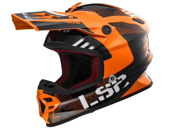 MX 456 RALLIE oranžs melns LIGHT