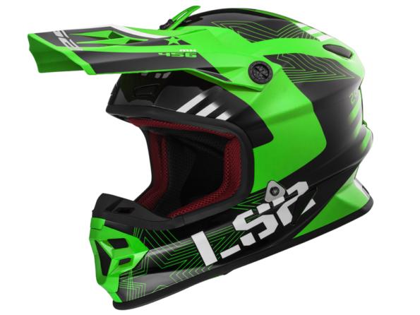 MX 456 RALLIE zaļa melna LIGHT