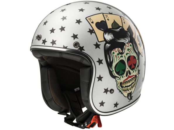 LS2 Bobber OF583-TATTOO-PLATA