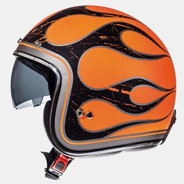 MT Le Mans Flaming oranžs/melns matēta