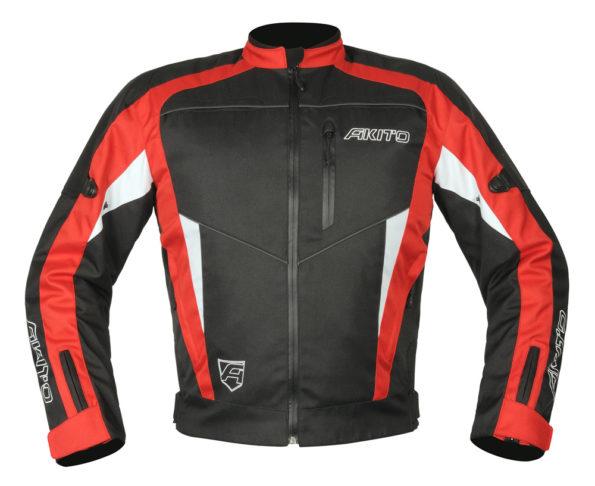 Akito Horizon motojaka melns/sarkans