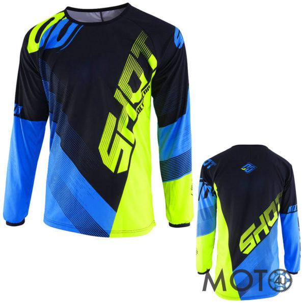 SHOT Cross Racing DEVO ULTIMATE Krekls BLACK/BLUE/Yellow (2019)