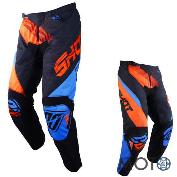 SHOT Cross Racing DEVO ULTIMATE Bikses BLUE/BLACK/FLUO ORANGE (2019)