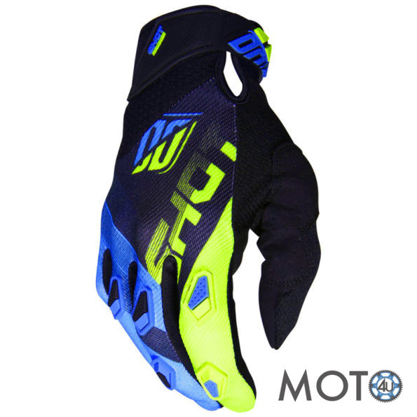 SHOT Racing Cimdi DEVO Ultimate BLACK/BLUE/YELLOW (2019)