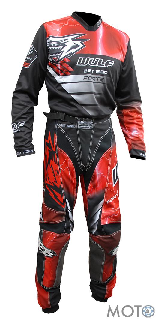 Wulfsport Forte – Bikses un krekls, sarkans